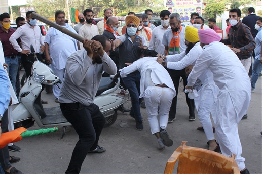 Fight between BJP and Congress in Amritsar