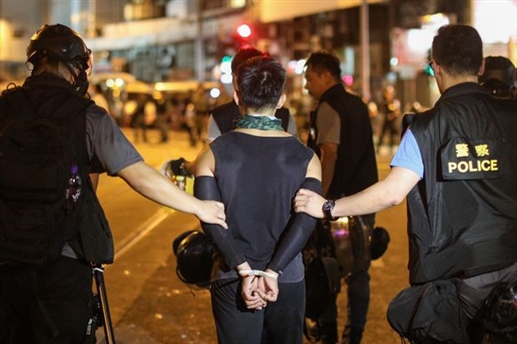 Protesters arrested in Hong Kong
