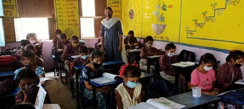 Attendance at schools near Garhshankar was half-hearted on the first day