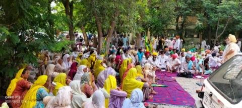 Dharna by farmers led by Bhartiya Kisan Union Ekta Ugrahan
