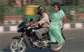 Changed the way you sit on the back of the bike Now you have to do this