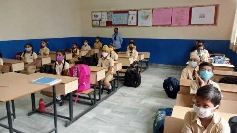 First day in JVPS school for children
