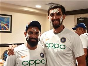 India vs West indies 2nd Test: ਟੀਮ ਇੰਡੀਆ ਨੇ ਸੈਲੀਬ੍ਰੇਟ ਕੀਤਾ ਇਸ਼ਾਂਤ ਤੇ ਸ਼ਮੀ ਦਾ ਜਨਮ ਦਿਨ