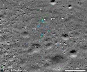 Chandrayaan-2 : ਚੰਦਰਮਾ ਦੀ ਸਤ੍ਹਾ 'ਤੇ ਮਿਲਿਆ ਵਿਕਰਮ ਲੈਂਡਰ ਦਾ ਮਲਬਾ, NASA ਨੇ ਦਿਖਾਈ ਤਸਵੀਰ