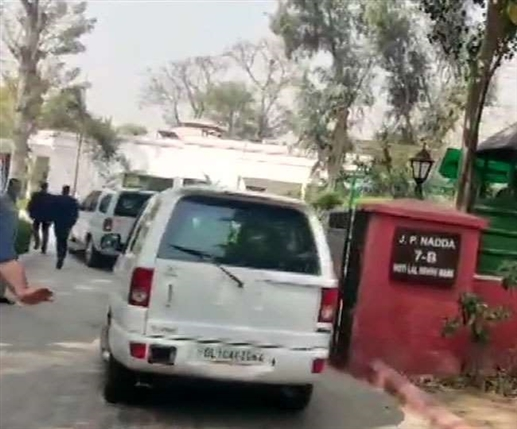 Assembly Election 2021 BJP Central Election Committee meeting Home Minister Amit Shah arrives at JP Naddas residence