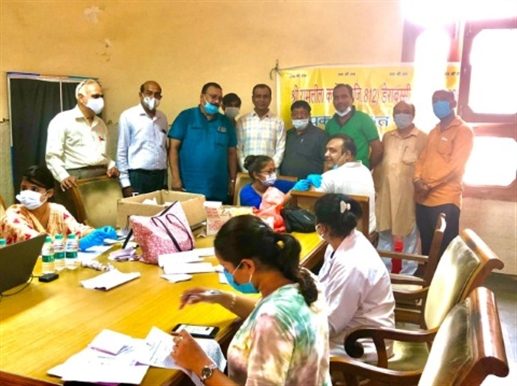 Ramlila Committee conducts vaccination camp