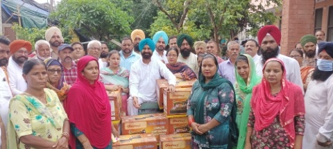 MLA GP provided sewing machines to 51 women and girls