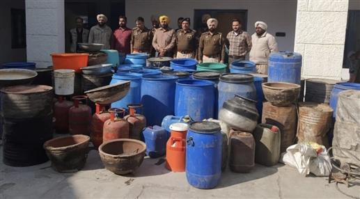 Police raid Congress MLA Harpartap Singhs Lakhowal village at 3 am find illegal distillery arrest 11