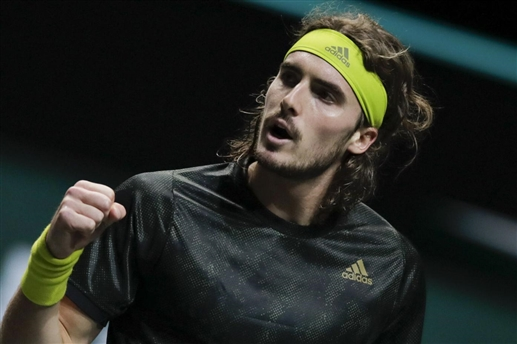 Rotterdam Open ABN Amro World Tennis Tournament Stefanos Sitsipas in quarterfinals