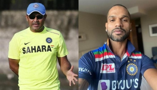 Sehwag wishes Dhawan a happy birthday