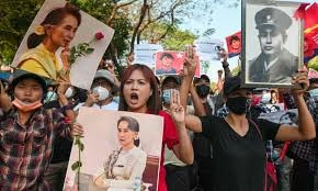 Reuse of force against protesters in Myanmar