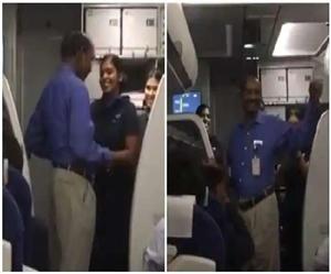 Video : ਫਲਾਈਟ 'ਚ ਪਹੁੰਚੇ ISRO ਚੀਫ ਨੂੰ ਦੇਖ ਖੁਸ਼ਨੁਮਾ ਹੋਇਆ ਮਾਹੌਲ, ਏਅਰ ਹੋਸਟੈਸ 'ਚ ਲੱਗੀ ਸੈਲਫੀ ਦੀ ਹੋੜ
