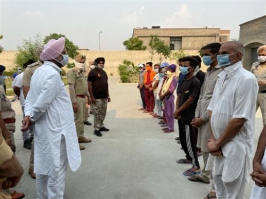 cabinet mantri randhawa checking jail