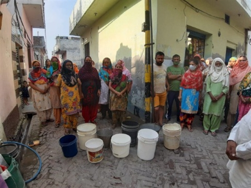 water supply problem in Noorpur colony
