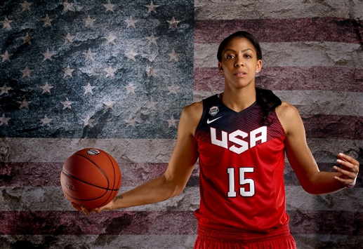 Candace Parker graces the basketball court