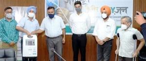 ਟਰਾਈਡੈਂਟ ਵਲੋਂ ਪੰਜਾਬ ਸਰਕਾਰ ਨੂੰ 100 ਆਕਸੀਜਨ ਕੰਸਨਟ੍ਰੇਟਰ ਭੇਟ