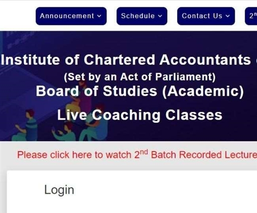 CA Exams 2021 Live coaching for students appearing for CA November exams ICAI announces
