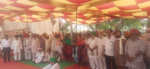 Farmer Protest at Mother Day