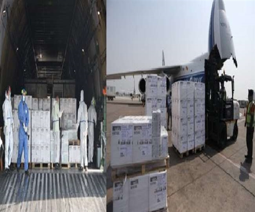 Consignment of Oxygen Generator and 1000 Ventilators from UK to India Continued Support
