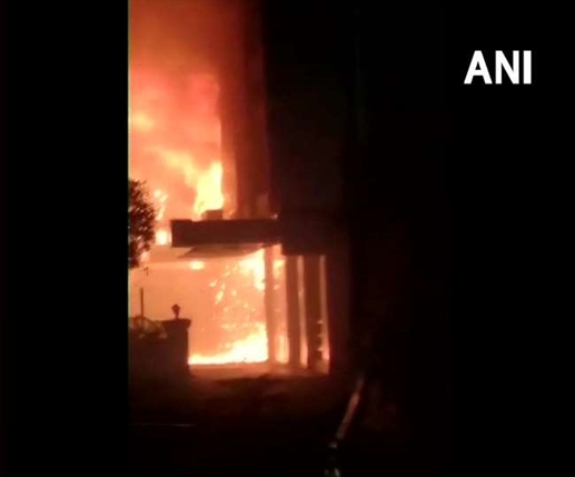 A fire broke out at the Covid Care Center in Vijayawada