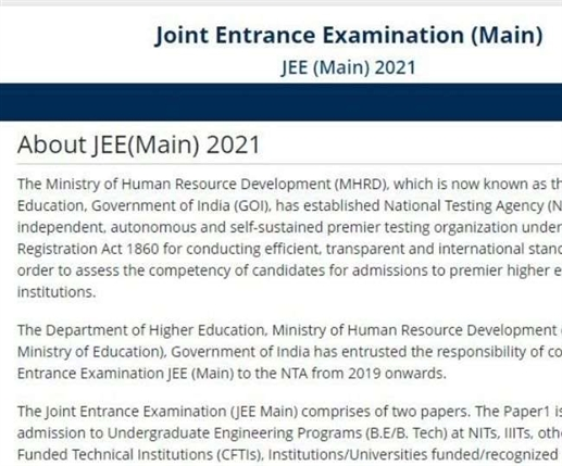 JEE 2021 Registration process for February session ends on this date apply soon