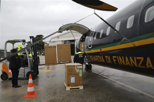 Italy sends consignment of medical supplies to India assures all possible help in this difficult time