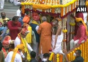 Jagannath Rath Yatra 2021: ਅਹਿਮਦਾਬਾਦ 'ਚ ਭਗਵਾਨ ਜਗਨਨਾਥ ਦੀ 144ਵੀਂ ਰੱਥ ਯਾਤਰਾ, ਮੰਗਲਾ ਆਰਤੀ 'ਚ ਅਮਿਤ ਸ਼ਾਹ ਹੋਏ ਸ਼ਾਮਲ