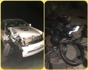 Road Accident : ਫਾਰਚੂਨਰ-ਮੋਟਰਸਾਈਕਲ ਦੀ ਟੱਕਰ ਦੌਰਾਨ ਦੋ ਸਕੇ ਭਰਾਵਾਂ ਸਣੇ ਚਾਰ ਨੌਜਵਾਨਾਂ ਦੀ ਮੌਤ