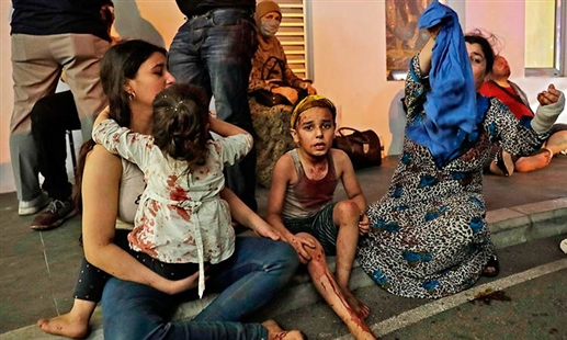 Beirut children are in shock after the blast
