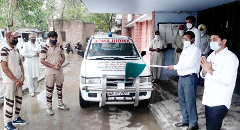 ambulance for corona pataients gidarbaha