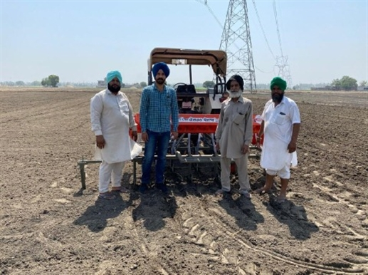 The trend of direct sowing of paddy has increased in the Malwa region