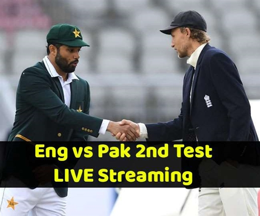 Second test match Of England vs Pakistan