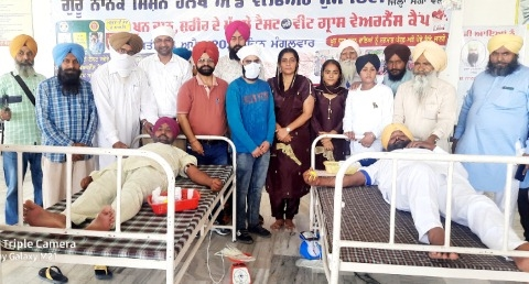 Guru Nanak Mission Health and Welfare Society Daudhar organizes blood donation camp on the occasion of Baisakhi