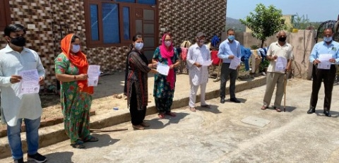 masks distributed in nangal