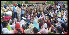 protest of vocational teachers against state govt