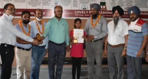 teacher armanpreet honoured