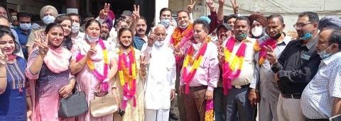 sachin diwan sellected as presidents of nagar council nawasehar