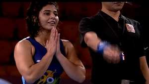 History made by Sarita won gold after losing the first bout