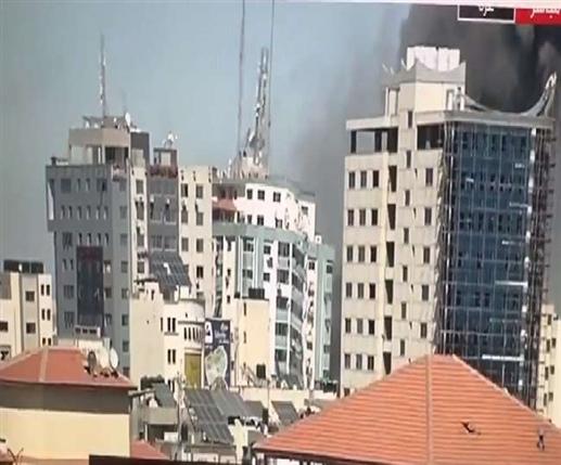 Israeli strike in Gaza destroys AP Al Jazeera and many other media outlets