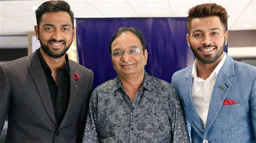 Hardik and Karunal father dies