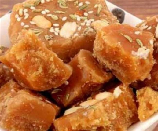 A farmer is making 77 types of jaggery on his Kohlu selling it for Rs 5000