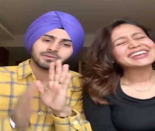 Neha kakkar threatens husband rohanpreet singh video goes viral on social media
