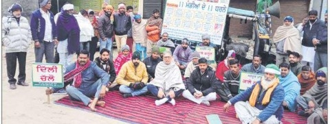 protest against agriculter laws