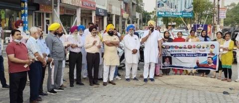 Bathinda protests by burning electricity bills punjabijagran news