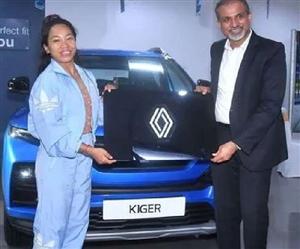 Renault ਨੇ ਓਲੰਪਿਕ 'ਚ ਸਿਲਵਰ ਮੈਡਲ ਲਿਆਉਣ ਵਾਲੀ ਮੀਰਾਬਾਈ ਚਾਨੂੰ ਨੂੰ ਤੋਹਫ਼ੇ 'ਚ ਦਿੱਤੀ Kiger, ਬੀਤੇ 10 ਸਾਲਾਂ ਤੋਂ ਕੰਪਨੀ ਭਾਰਤ ਚ ਕਰ ਰਹੀ ਵਿਕਰੀ