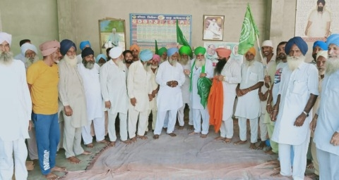 Unit election of Punjab Kisan Union held at village Ghunnas