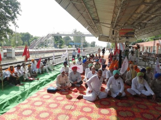 KISAN SANGHARSH COMMITTEE LOHIAN PROTESTS TO BLOW JUSTICE TO LAKHIMUR MARTYRS