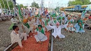 Protesters occupy railway tracks passengers unwell