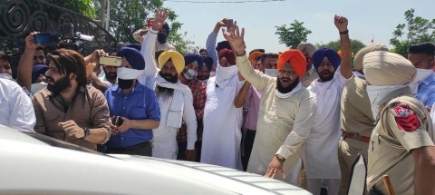akali and congress protest