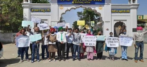 protest students school closed fatehgarh news punjabi jagran